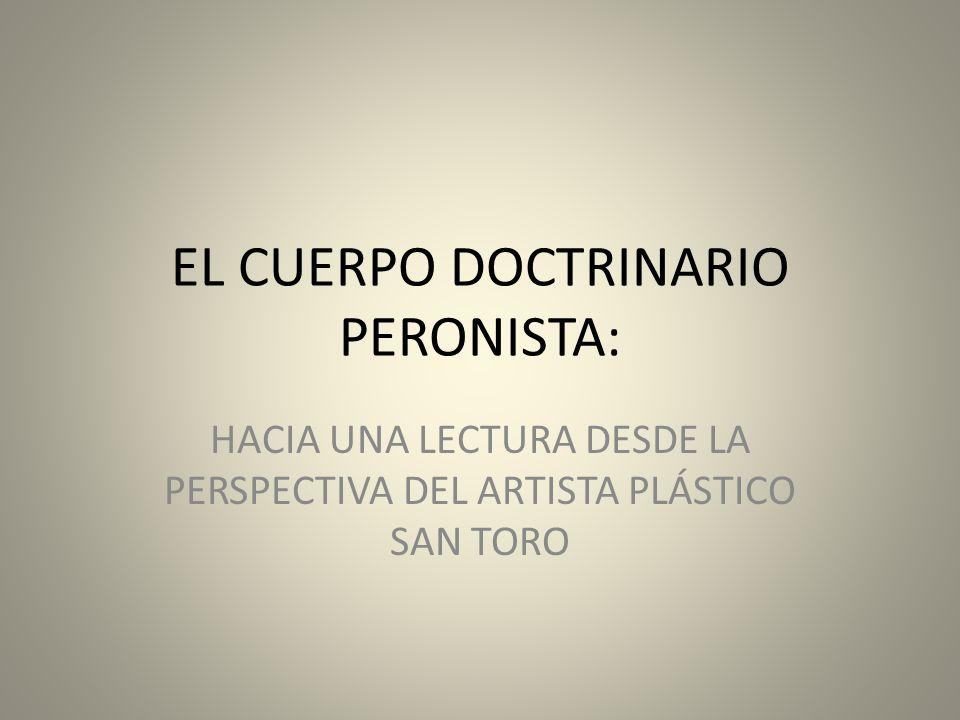 EL CUERPO DOCTRINARIO PERONISTA: