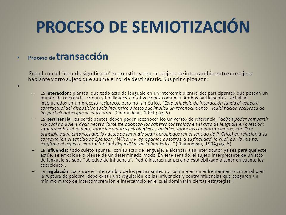 PROCESO DE SEMIOTIZACIÓN
