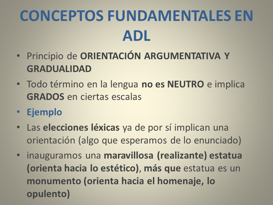 CONCEPTOS FUNDAMENTALES EN ADL