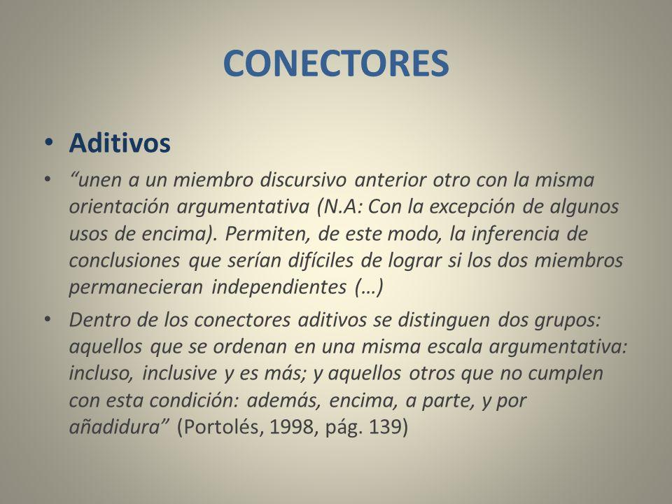 CONECTORES Aditivos.
