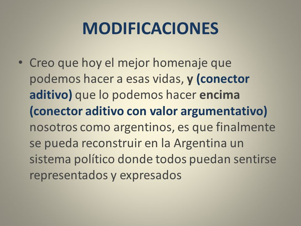 MODIFICACIONES