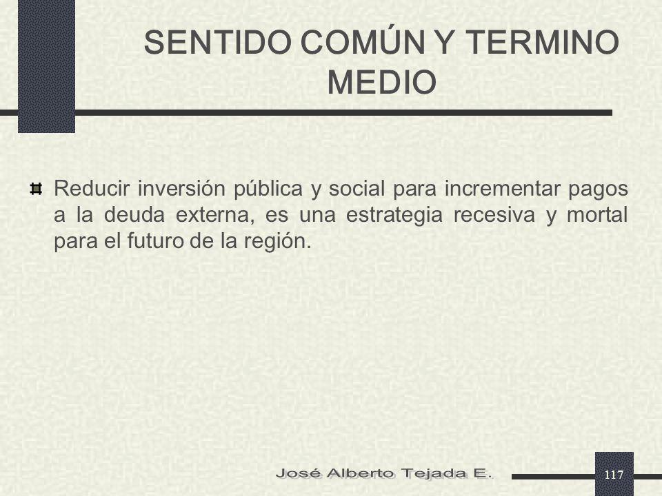 SENTIDO COMÚN Y TERMINO MEDIO