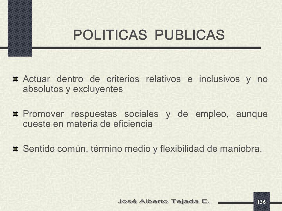 José Alberto Tejada E. POLITICAS PUBLICAS