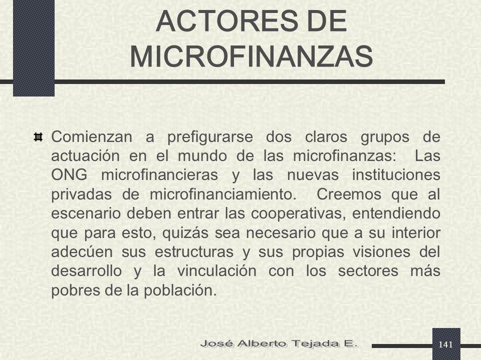 ACTORES DE MICROFINANZAS