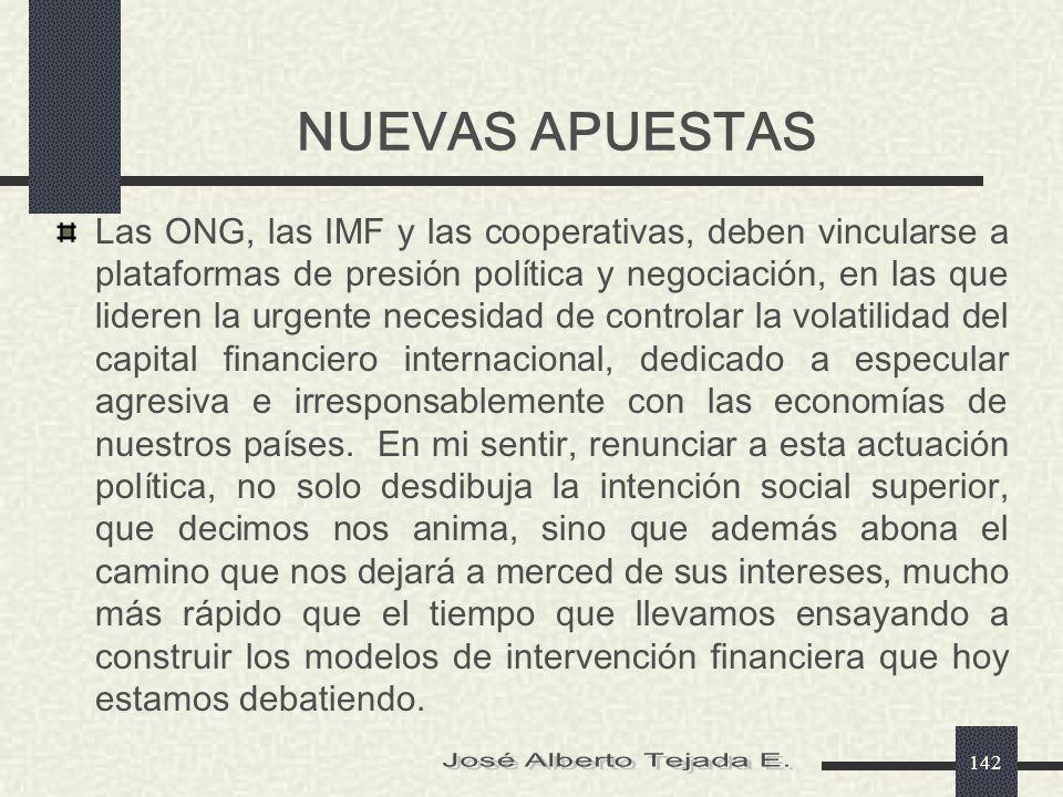 NUEVAS APUESTAS José Alberto Tejada E.