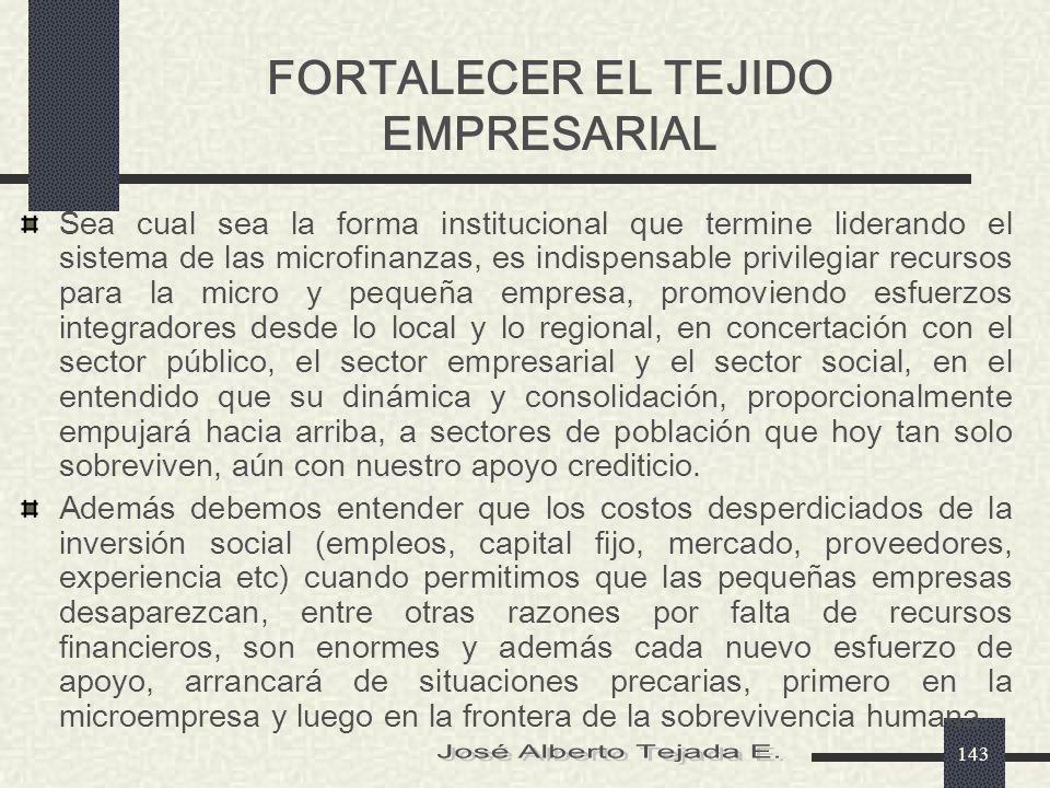FORTALECER EL TEJIDO EMPRESARIAL