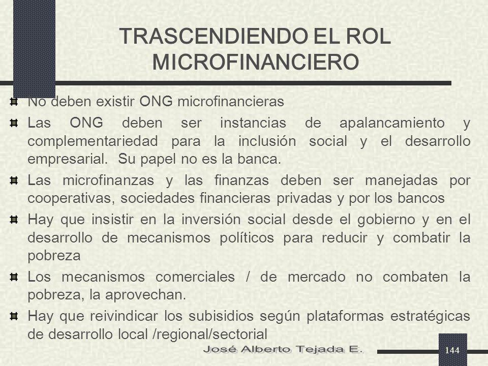 TRASCENDIENDO EL ROL MICROFINANCIERO