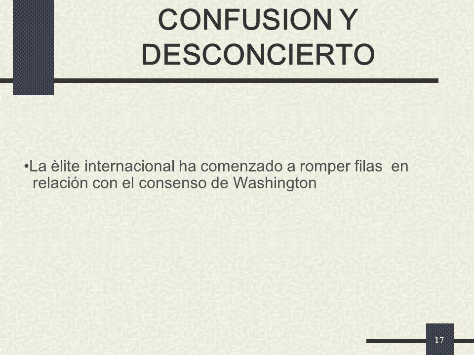 CONFUSION Y DESCONCIERTO