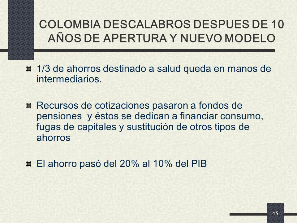 EFECTOS DE LAS REFORMAS DEL CONSENSO DE WASHINGTON EN LA DECADA DEL 90 COLOMBIA DESCALABROS DESPUES DE 10 AÑOS DE APERTURA Y NUEVO MODELO
