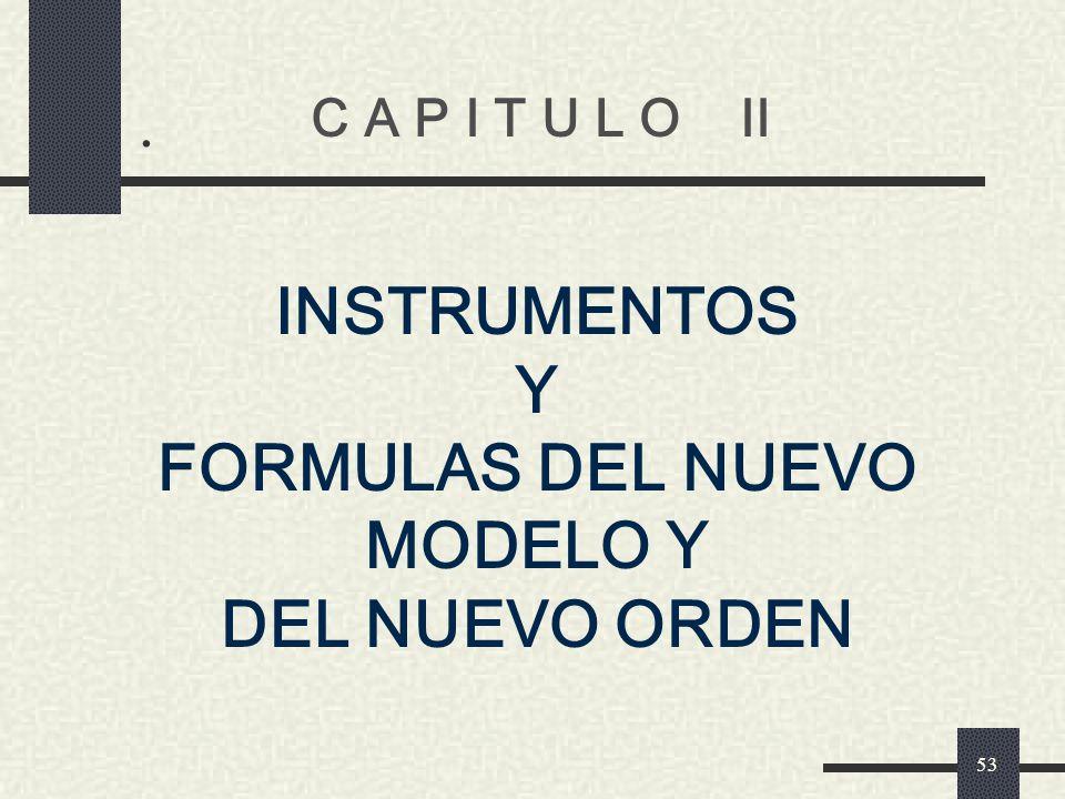FORMULAS DEL NUEVO MODELO Y