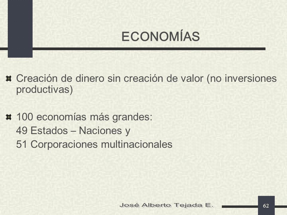 ECONOMÍAS José Alberto Tejada E.