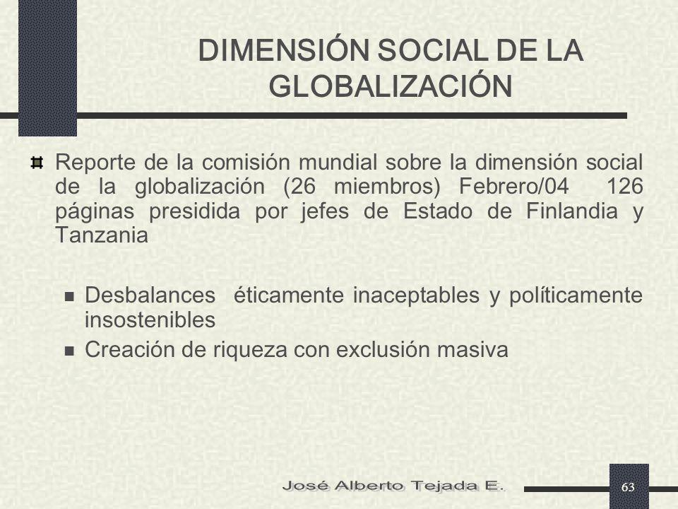 DIMENSIÓN SOCIAL DE LA GLOBALIZACIÓN