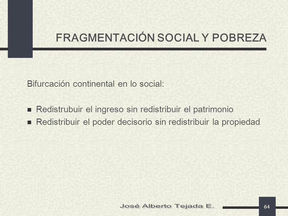 FRAGMENTACIÓN SOCIAL Y POBREZA
