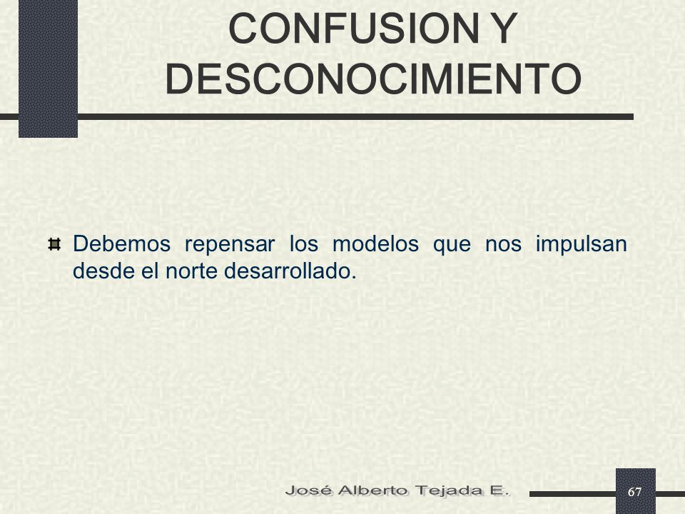 CONFUSION Y DESCONOCIMIENTO