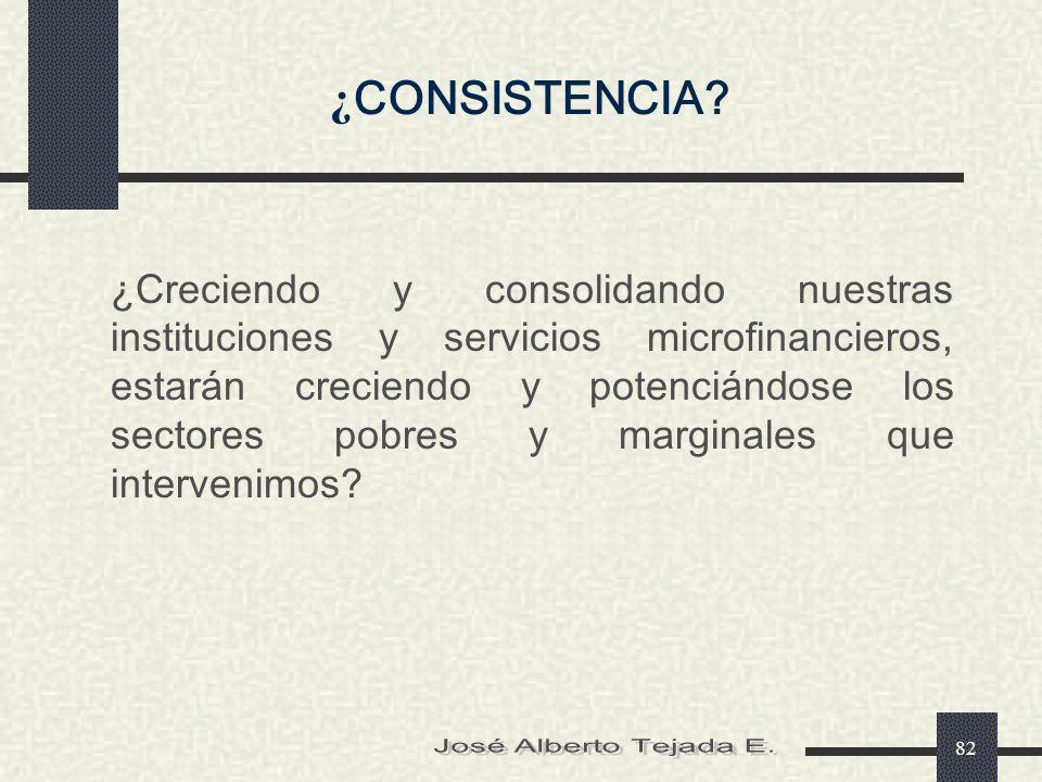 ¿CONSISTENCIA