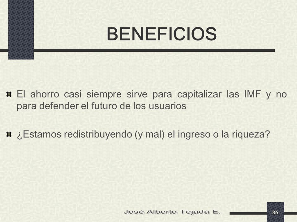 BENEFICIOS José Alberto Tejada E.