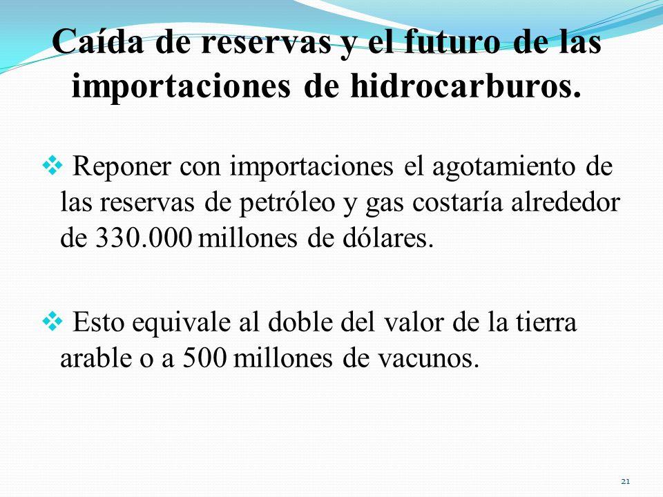 Caída de reservas y el futuro de las importaciones de hidrocarburos.
