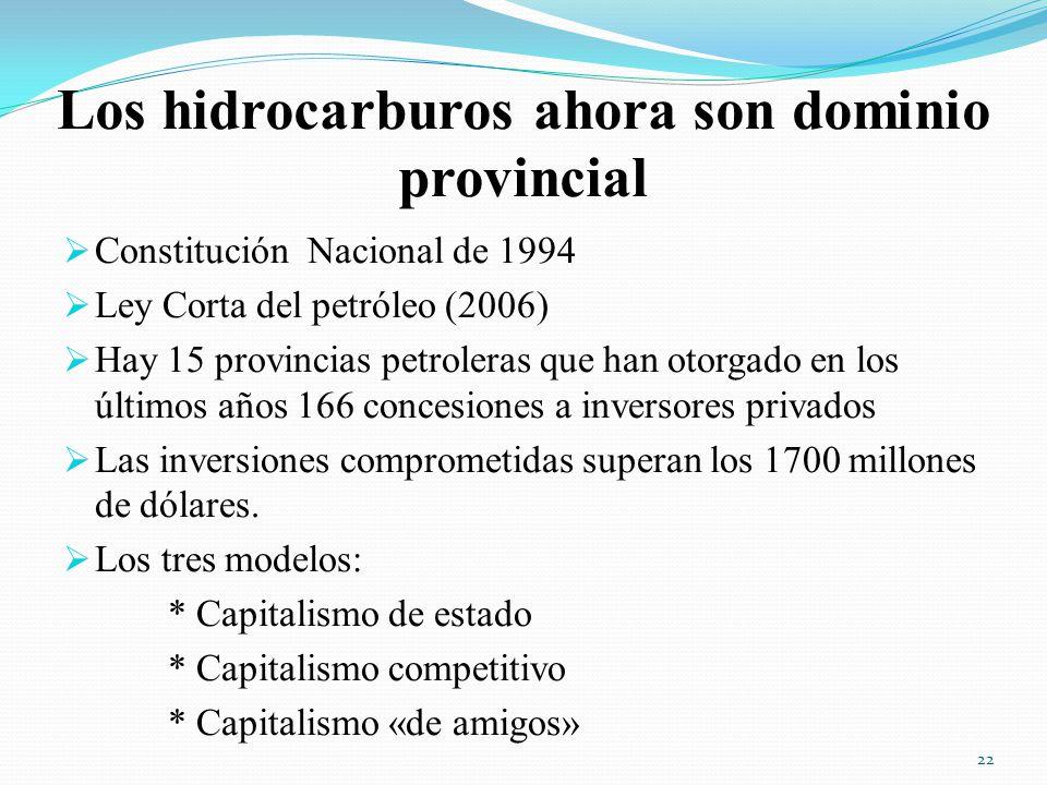 Los hidrocarburos ahora son dominio provincial