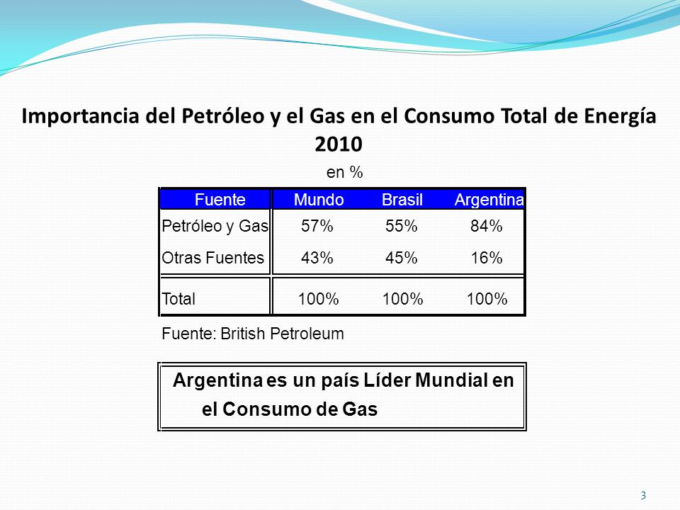 Importancia del Petróleo y el Gas en el Consumo Total de Energía