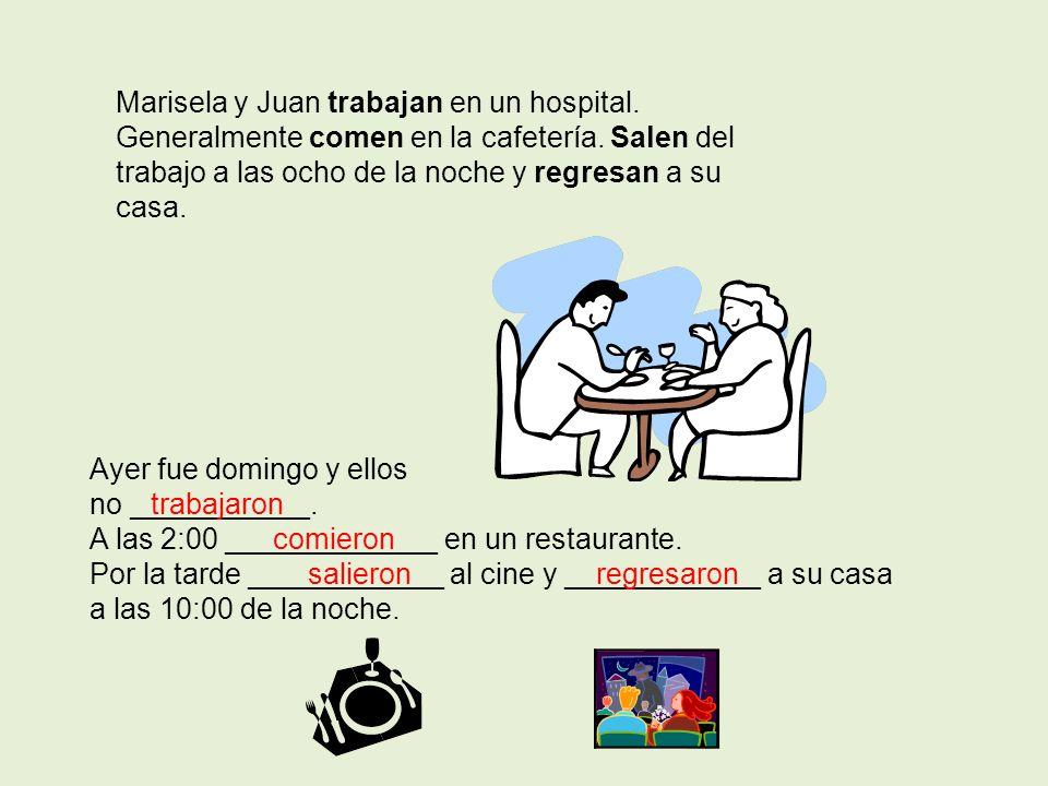 Marisela y Juan trabajan en un hospital