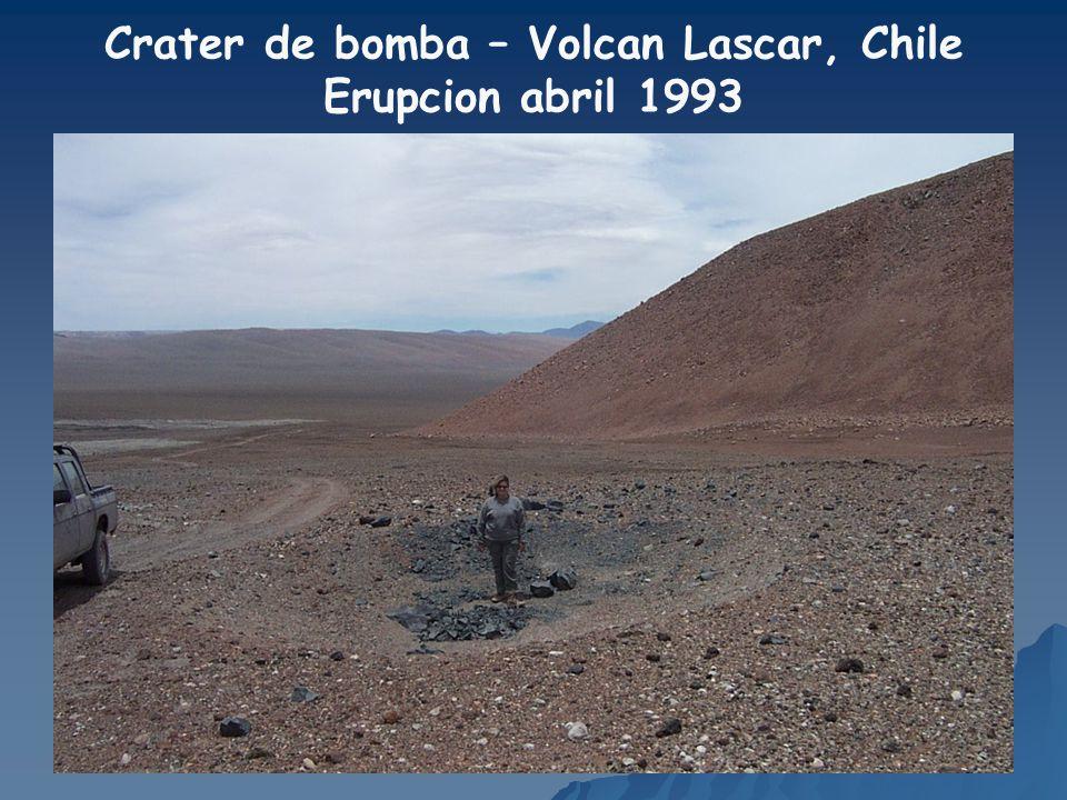 Crater de bomba – Volcan Lascar, Chile
