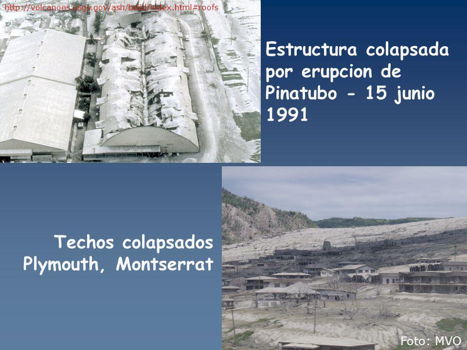 Estructura colapsada por erupcion de Pinatubo - 15 junio 1991
