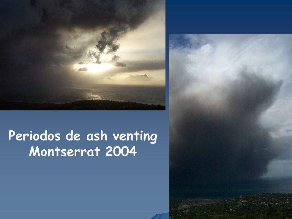 Periodos de ash venting Montserrat 2004