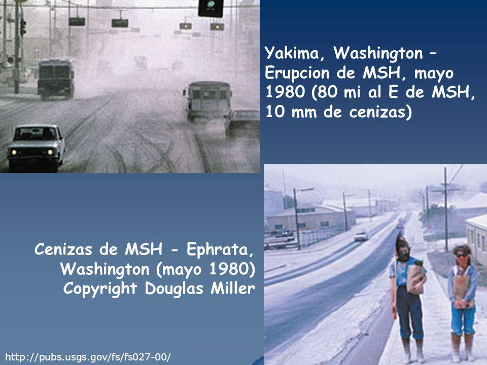 Cenizas de MSH - Ephrata, Washington (mayo 1980)