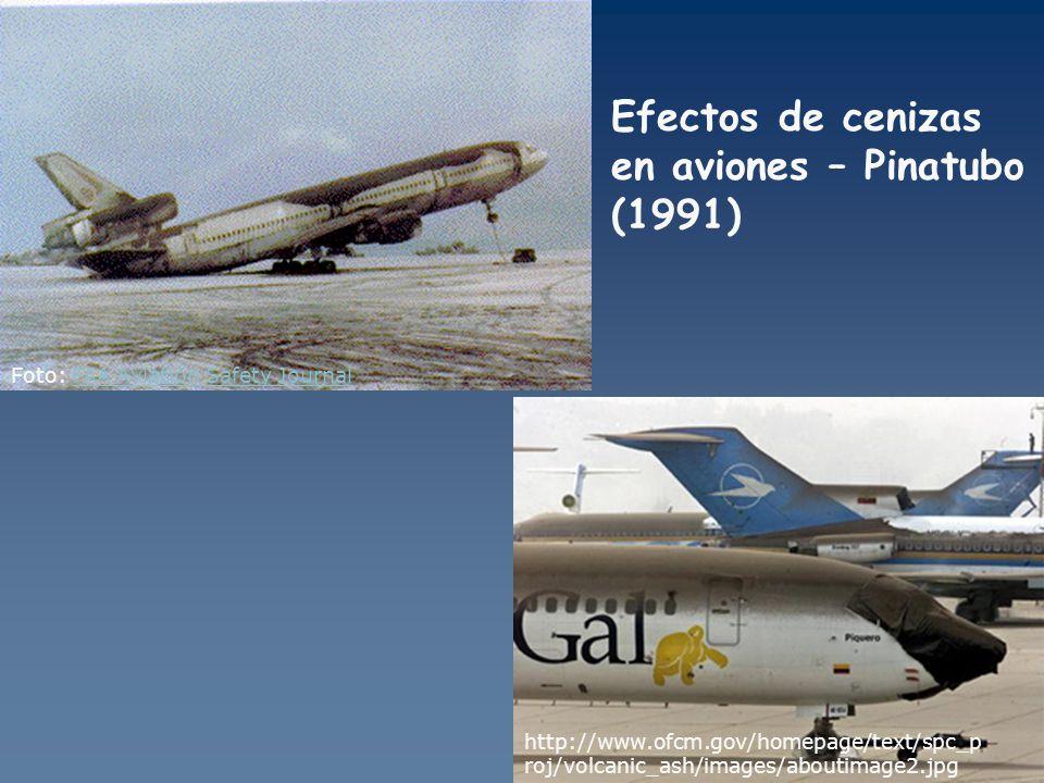 Efectos de cenizas en aviones – Pinatubo (1991)