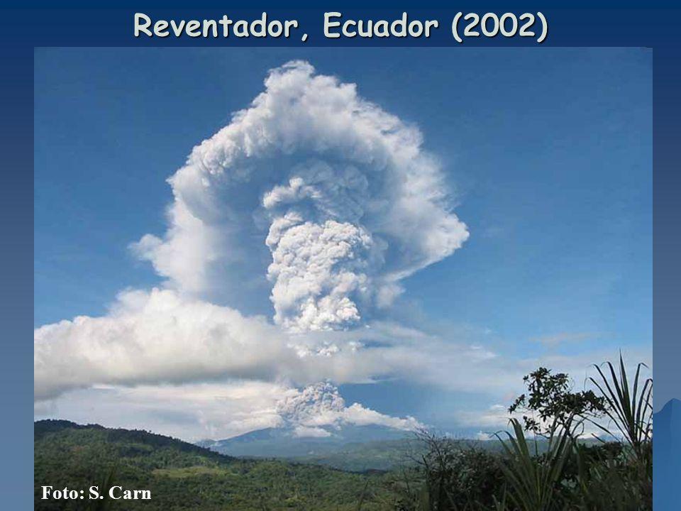 Reventador, Ecuador (2002) Foto: S. Carn