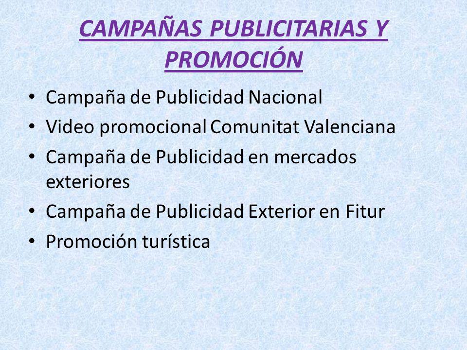 CAMPAÑAS PUBLICITARIAS Y PROMOCIÓN