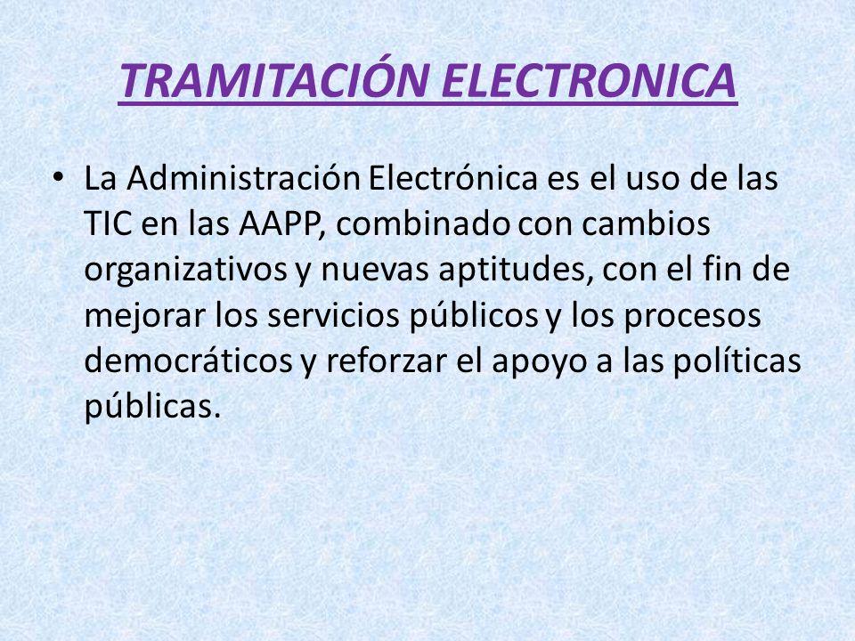 TRAMITACIÓN ELECTRONICA