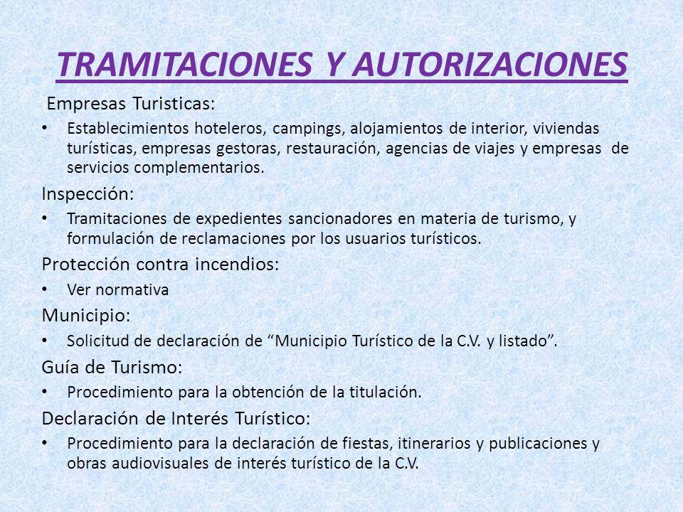 TRAMITACIONES Y AUTORIZACIONES
