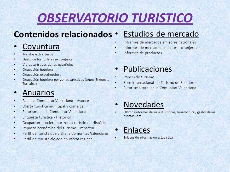 OBSERVATORIO TURISTICO