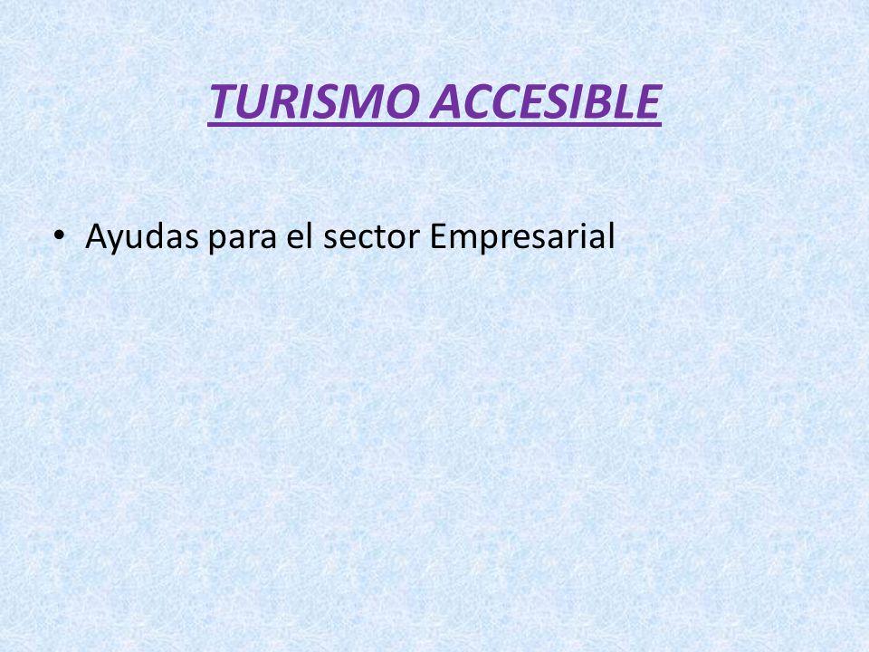 TURISMO ACCESIBLE Ayudas para el sector Empresarial