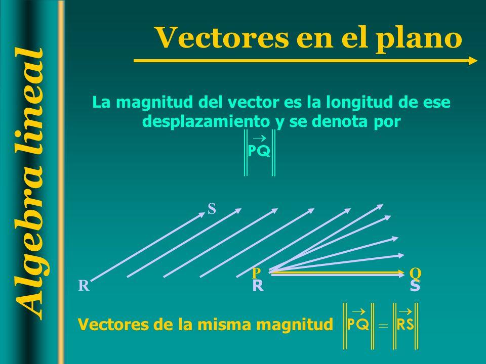 La magnitud del vector es la longitud de ese desplazamiento y se denota por