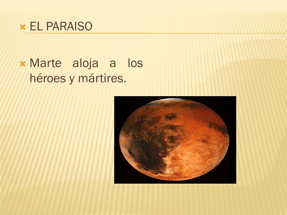 EL PARAISO Marte aloja a los héroes y mártires.