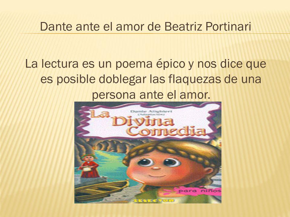 Dante ante el amor de Beatriz Portinari