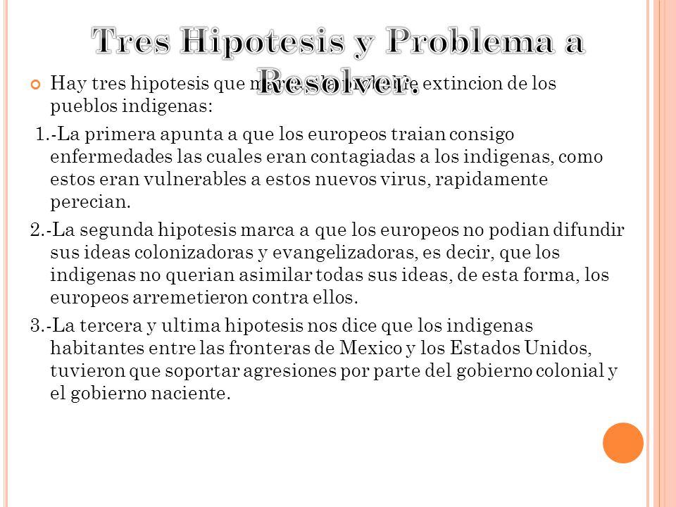Tres Hipotesis y Problema a Resolver.