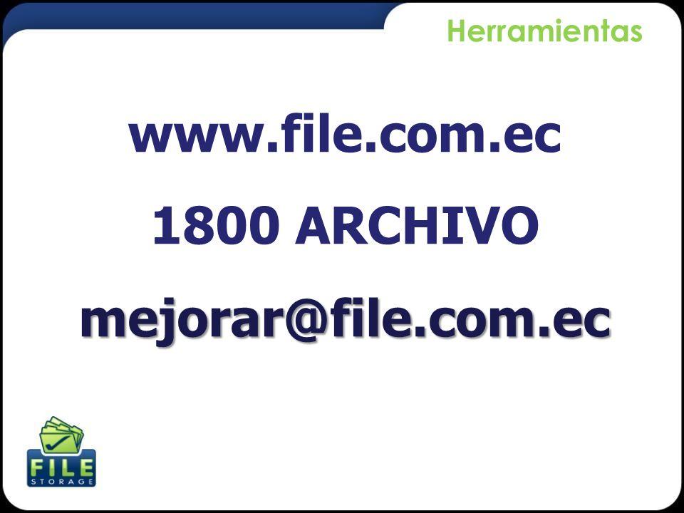 www.file.com.ec 1800 ARCHIVO mejorar@file.com.ec