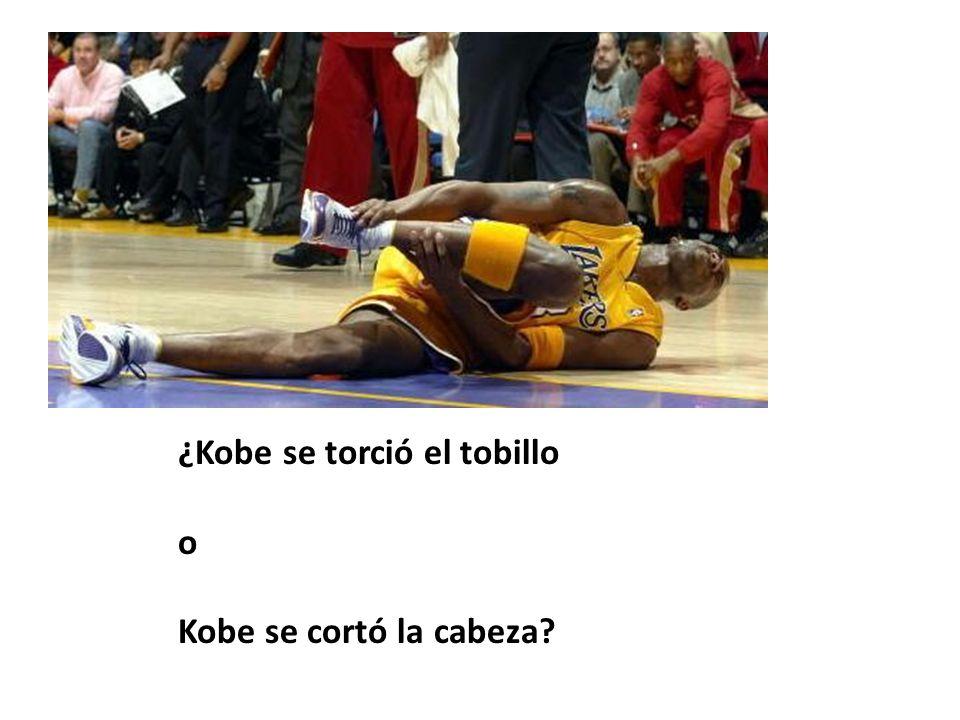 ¿Kobe se torció el tobillo