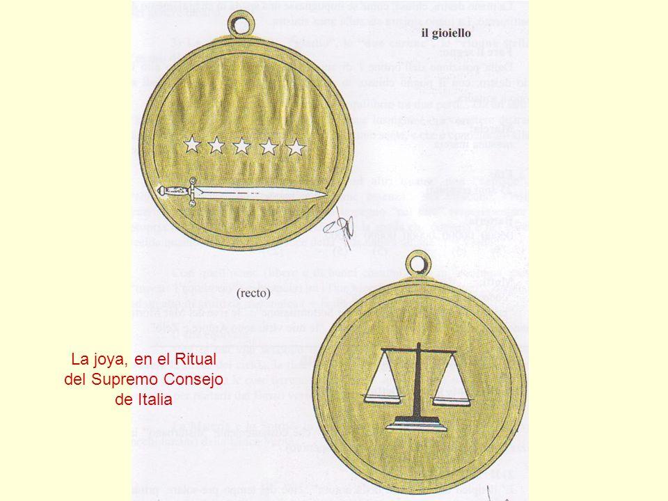 La joya, en el Ritual del Supremo Consejo de Italia