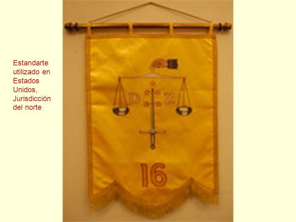 Estandarte utilizado en Estados Unidos, Jurisdicción del norte