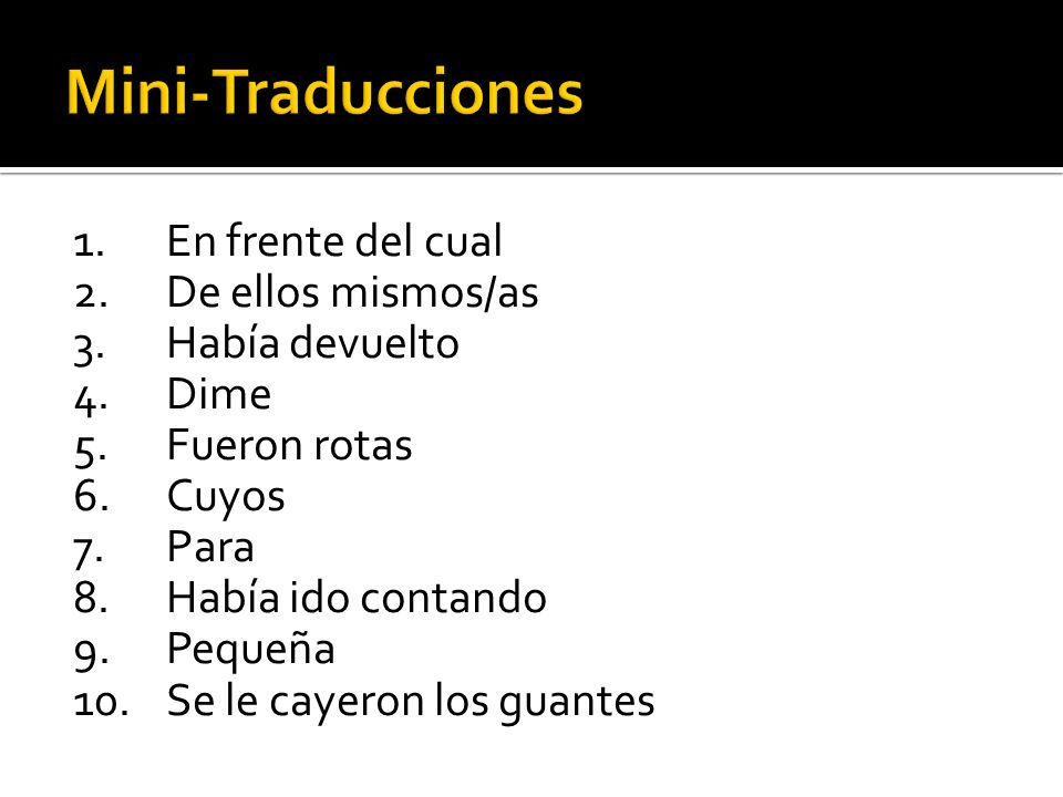Mini-Traducciones