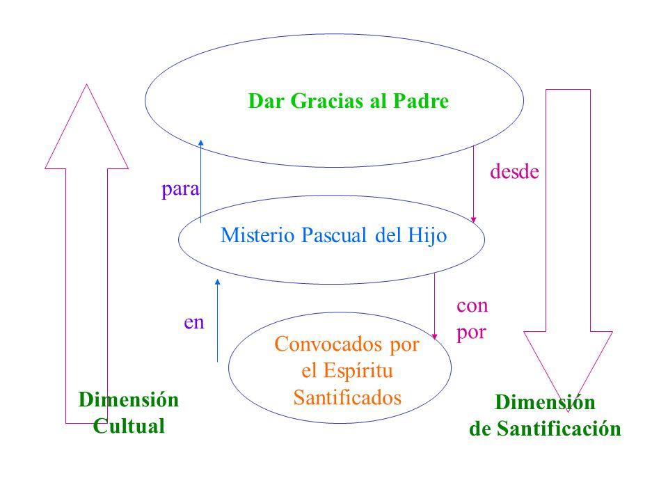 Dar Gracias al Padre Dimensión Cultual Dimensión de Santificación