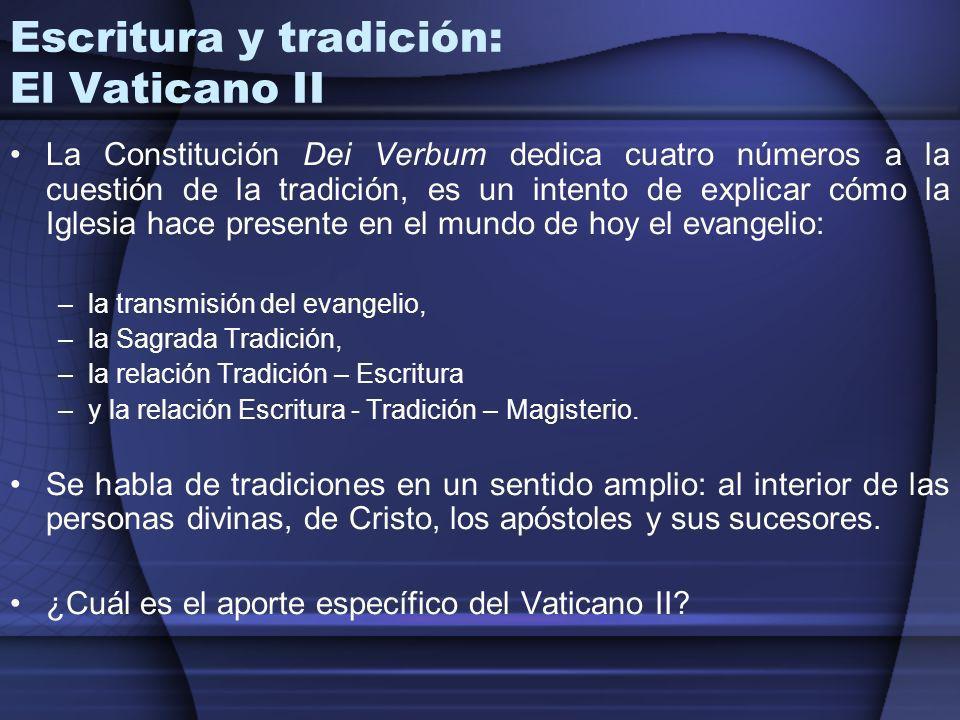 Escritura y tradición: El Vaticano II
