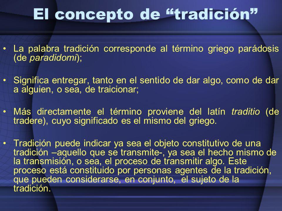 El concepto de tradición