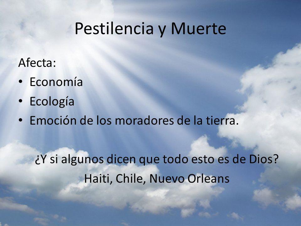 Pestilencia y Muerte Afecta: Economía Ecología