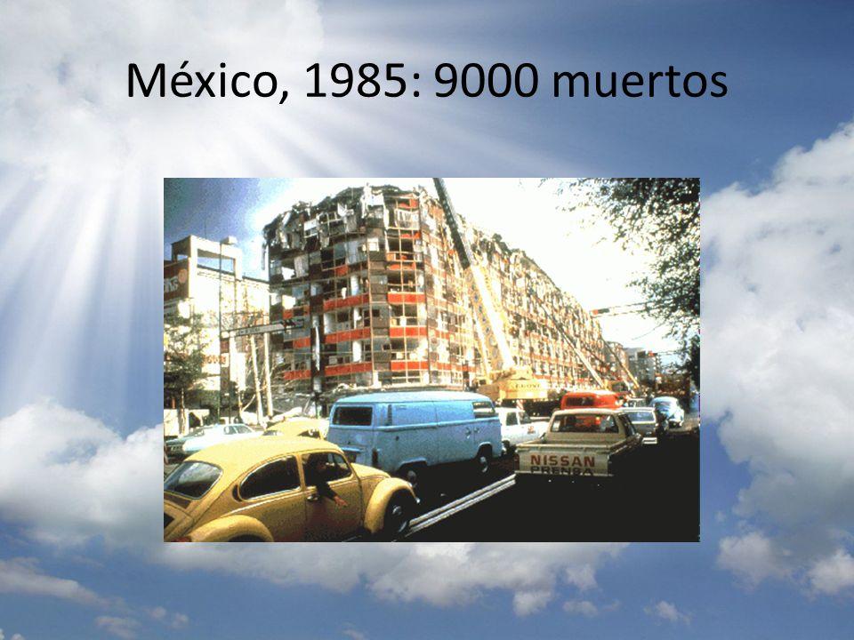 México, 1985: 9000 muertos