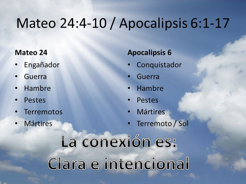 Mateo 24:4-10 / Apocalipsis 6:1-17